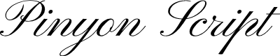 Preview image for Pinyon Script Font