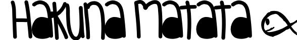 Preview image for HakunaMatata Font