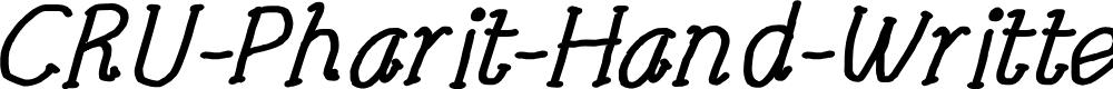 Preview image for CRU-Pharit-Hand-Written v2 Bold Italic