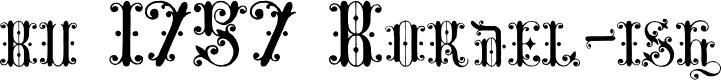 Preview image for bu 1757 Bordel-ish Font