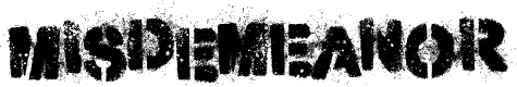Preview image for Misdemeanor Font