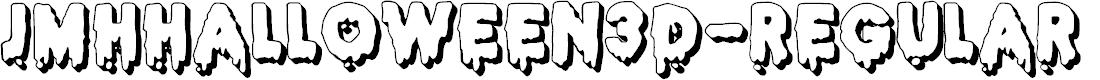 Preview image for JMHHALLOWEEN3D-Regular Font