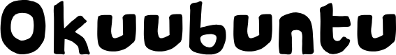 Preview image for Okuubuntu Font