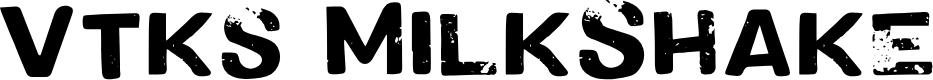 Preview image for Vtks MilkShake Font