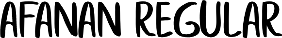 Preview image for afanan Regular Font