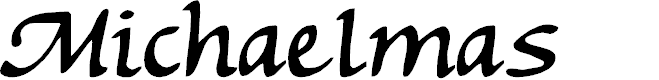 Preview image for Michaelmas Font