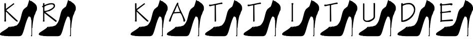 Preview image for KR Kattitude Font