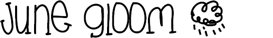 Preview image for JuneGloom Font