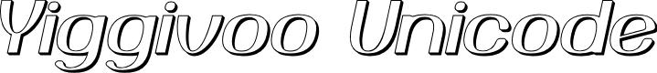 Preview image for Yiggivoo Unicode 3D Italic