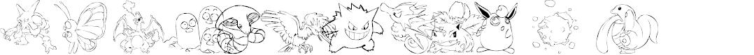 Preview image for LMS Poke'mon Master DingBat Font