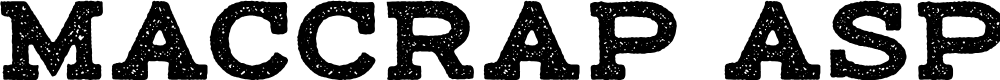 Preview image for maccrap asphalt personal use Regular Font