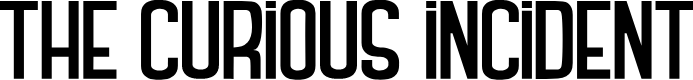 Preview image for THE CURIOUS INCIDENT Font