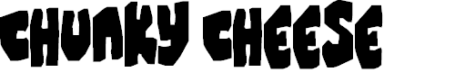 Preview image for Chunky Cheese Font