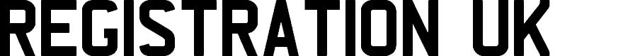 Preview image for REGISTRATION PLATE UK Font