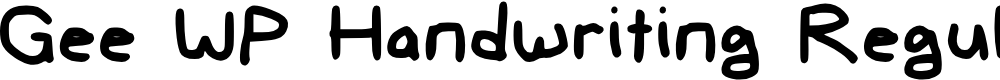 Preview image for Gee WP Handwriting Regular