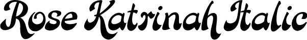 Preview image for Rose Katrinah Italic Font