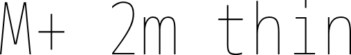 Preview image for M+ 2m thin