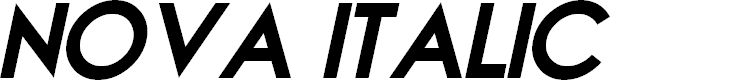 Preview image for NOVA ITALIC Personal Use Italic Font