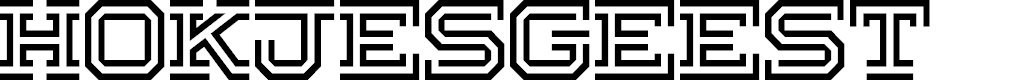 Preview image for Hokjesgeest Font