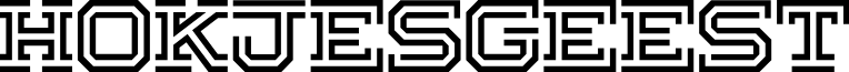 Hokjesgeest font
