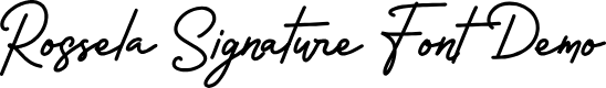 Preview image for Rossela Signature Font Demo