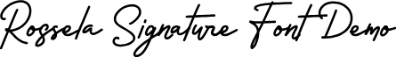 Rossela Signature Font Demo