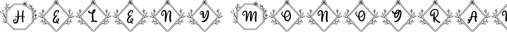 Heleny Monogram Regular