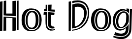 Preview image for Hot Dog Font