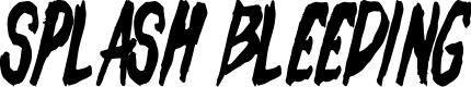 Preview image for Splash Bleeding Font
