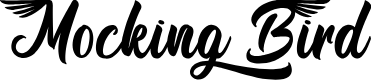Preview image for Mocking Bird - Personal Use Font