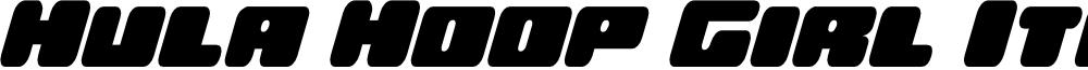 Hula Hoop Girl Italic