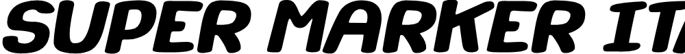 Preview image for Super Marker Italic