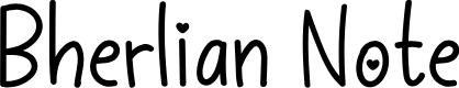 Bherlian Note by Rantautype