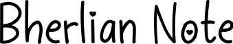 Bherlian Note