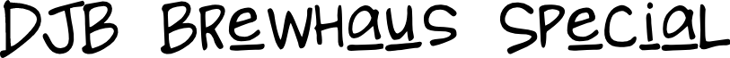 DJB Brewhaus Special font