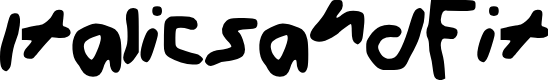 Preview image for Italics_and_F____it Font