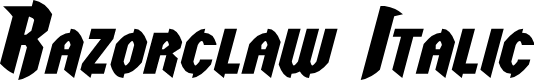 Preview image for Razorclaw Italic