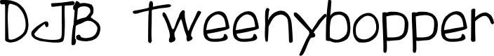 Preview image for DJB Tweenybopper Font