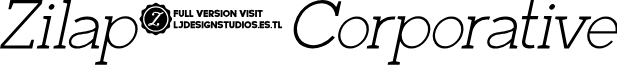 Zilap Corporative Light Italic