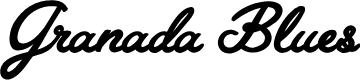 Preview image for Granada Blues Personal Use Regular Font