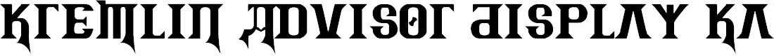 Preview image for Kremlin Advisor Display Kaps Bold Font