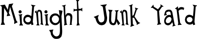 Preview image for Midnight Junk Yard Font