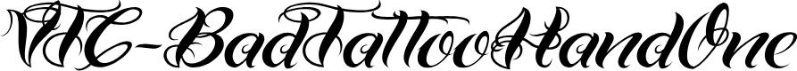 Preview image for VTC-BadTattooHandOne Font