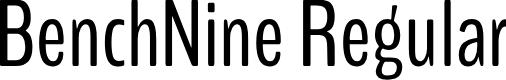Preview image for BenchNine Regular Font
