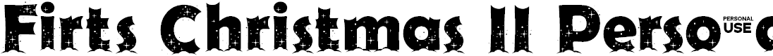 Preview image for Firts Christmas II Personal USE Font