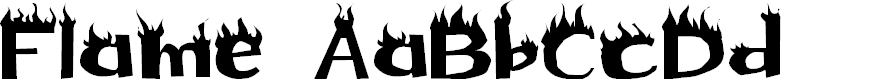 Preview image for Flame Font
