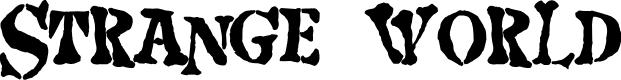 Preview image for Strange world Font