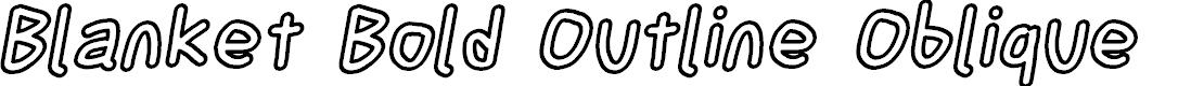 Preview image for Blanket Bold Outline Oblique