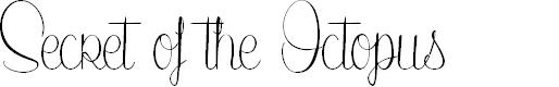Preview image for SecretoftheOctopus Font