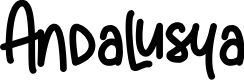 Preview image for Andalusya[Demo] Font